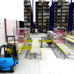 Sim Logistics - Simulation of material flows through warehouse and production.