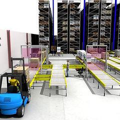 Sim Logistics - Simulering av materialflöden genom lager och produktion.