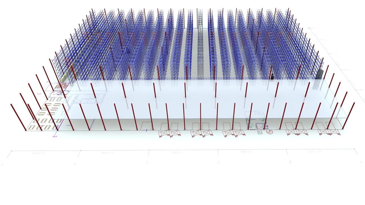CH Square - Exempel layout med pallställ - Sim Logistics AB