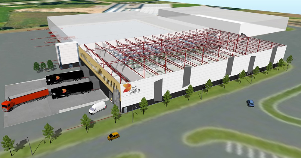Sim Logistics - Warehouse Layout for DS Smith Packaging.