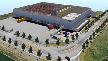 Sim Logistics - Visualisering av byggnader och utustning.