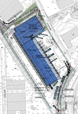 Logistics consultant - Sim Logistics - Drawing with warehouse building.