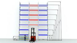 CH Square - Exempel pallställ - Sim Logistics AB