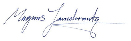 Logistikkonsult - Sim Logistics - Signatur Magnus Jarnekrantz.