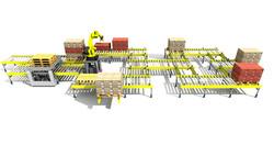 Sim Logistics - Conveyor System Layer Pick Robot