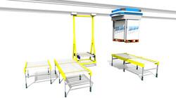 Sim Logistics - Overhead Track Vehicles