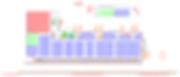 Logistikkonsult - Sim Logistics - Skiss över lager och layout gjord i simuleringsprogram.