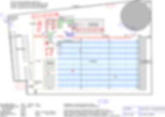 Logistikkonsult - Sim Logistics - Skiss över tomt med planerad lagerbyggnad och layout.
