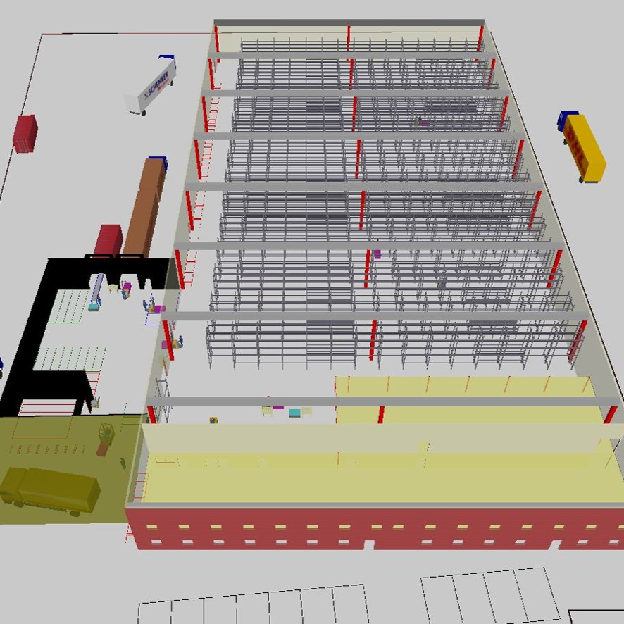 Sim Logistics - Warehouse view 1