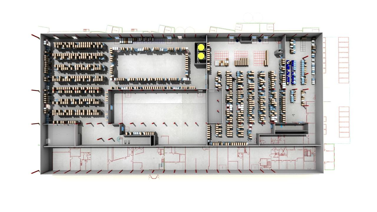 Fresh - Utformning av layout i ny lokal - Sim Logistics AB