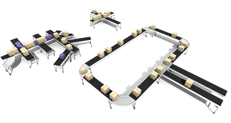Sim Logistics - Belt Conveyor and Intersection Controller
