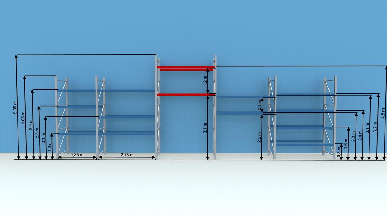 Fresh - Olika sektioner i pallställ - Sim Logistics AB