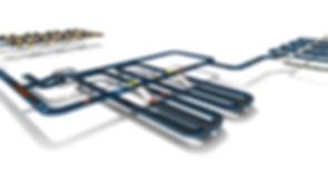 Logistikkonsult - Sim Logistics - 3D flödessimulering av baggagehanteringssystem på flygplats.