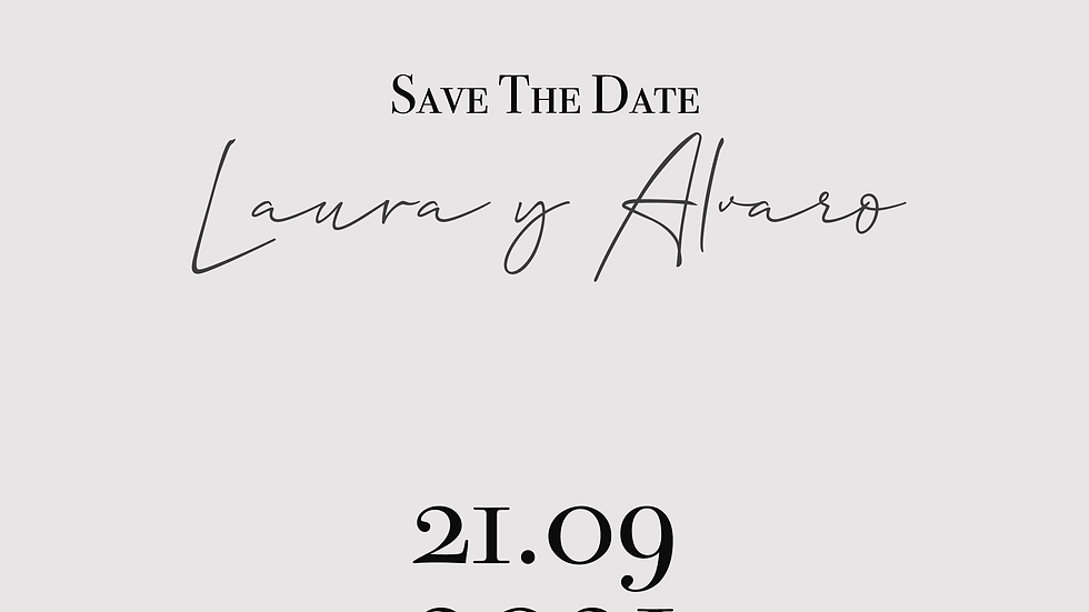 Laura - Save the date