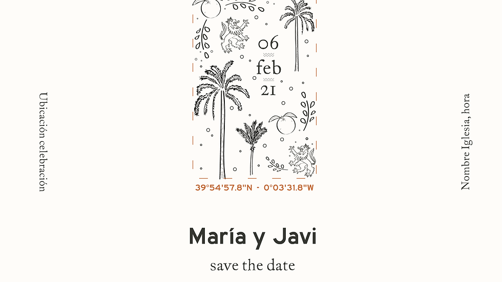 Maria - Save the date y logo