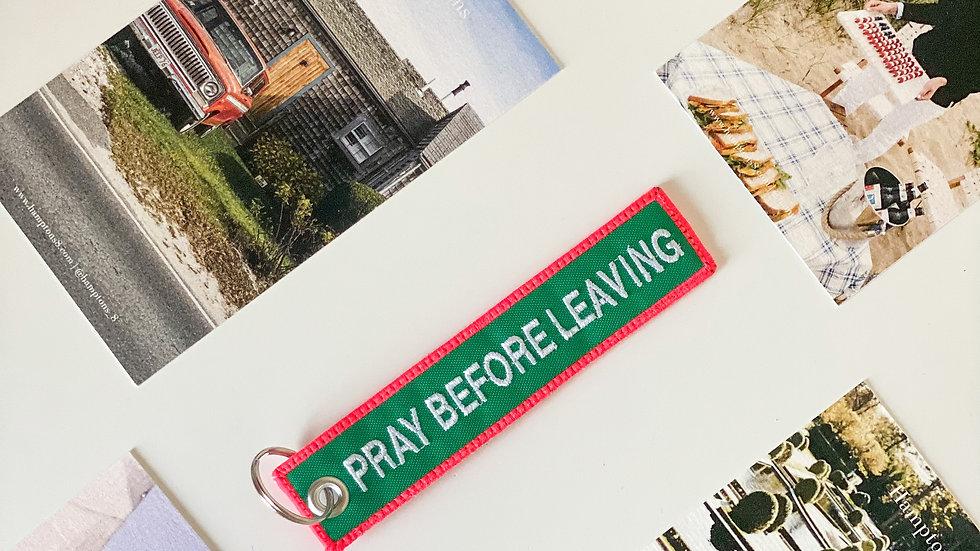 Llavero - Pray Before Leaving Verde