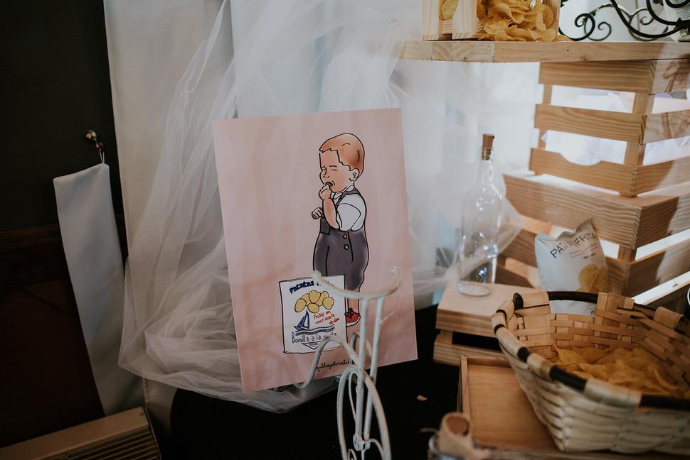 Ilustracion foto boda