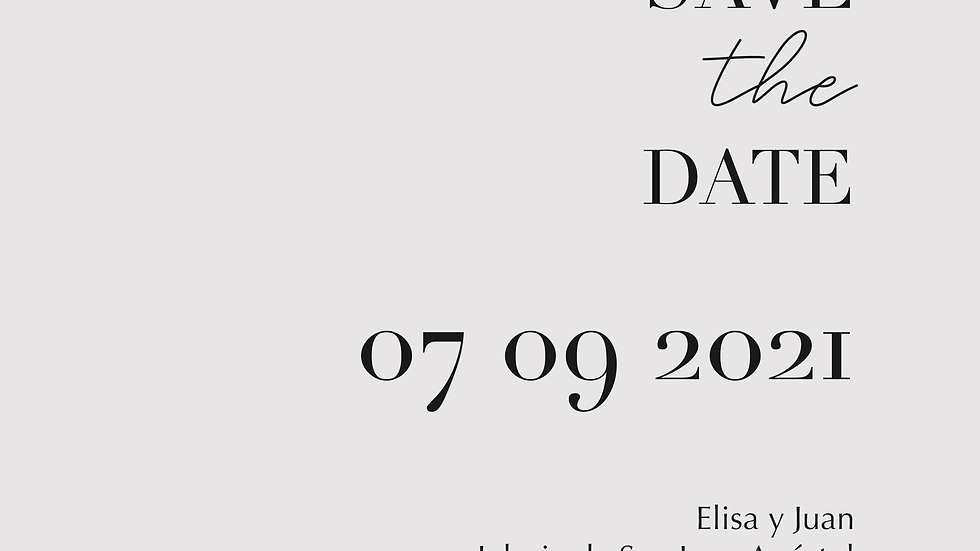 Elisa - Save the date