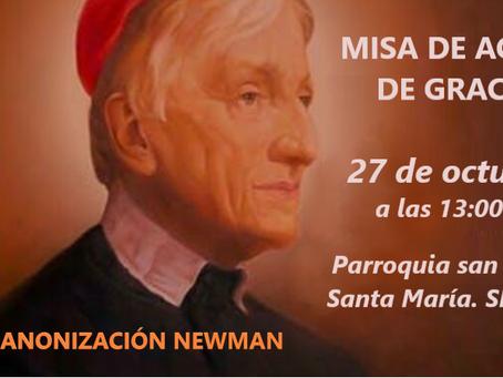 DAMOS GRACIAS A DIOS POR EL NUEVO SANTO: J. H. NEWMAN