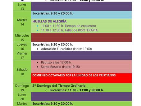 Actividades Pastorales ENERO 2020 (2)