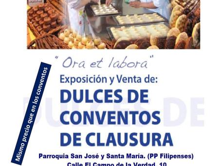 Exposición y venta de DULCES de las Monjas de Clausura