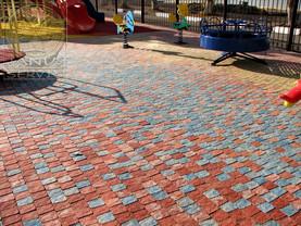 Тротуарная плитка нескольких цветов