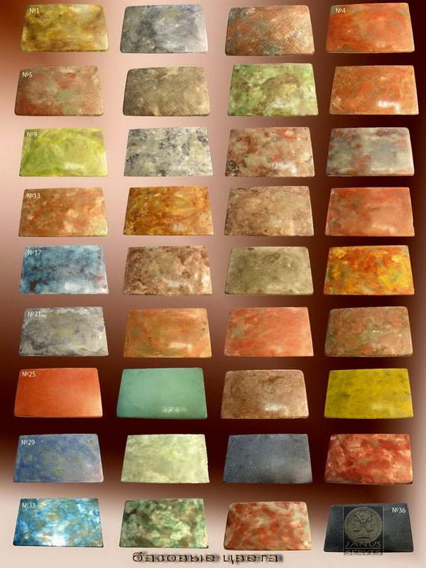 Базовые цвета тротураной плитки и фасадного камня