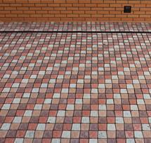 Трёхцветная тротуарная плитка