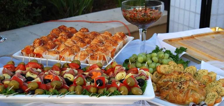 buffet, menu, caterer, sally ann catering