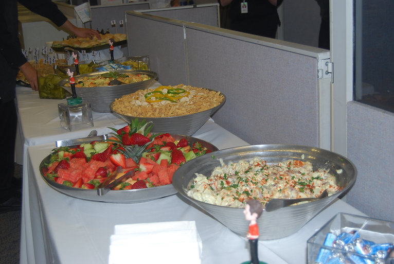 caterer, food, buffet, corporate menu