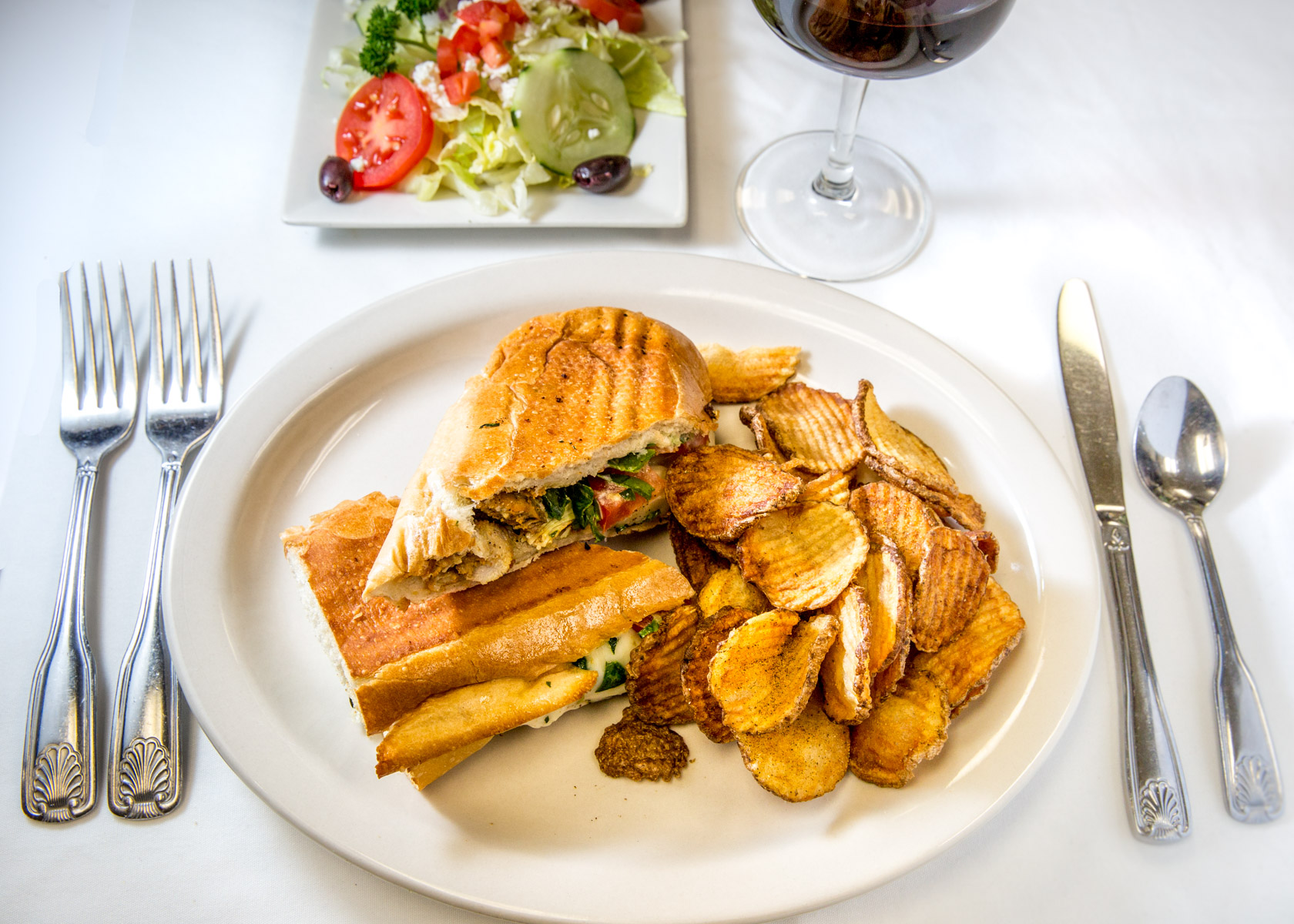 Chicken Pomodori Panini Combo 8.95