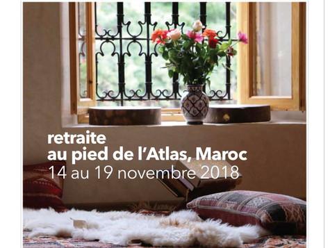 Osez embarquer pour une retraite de yoga au Maroc en novembre ! cliquez sur la photo pour la brochur