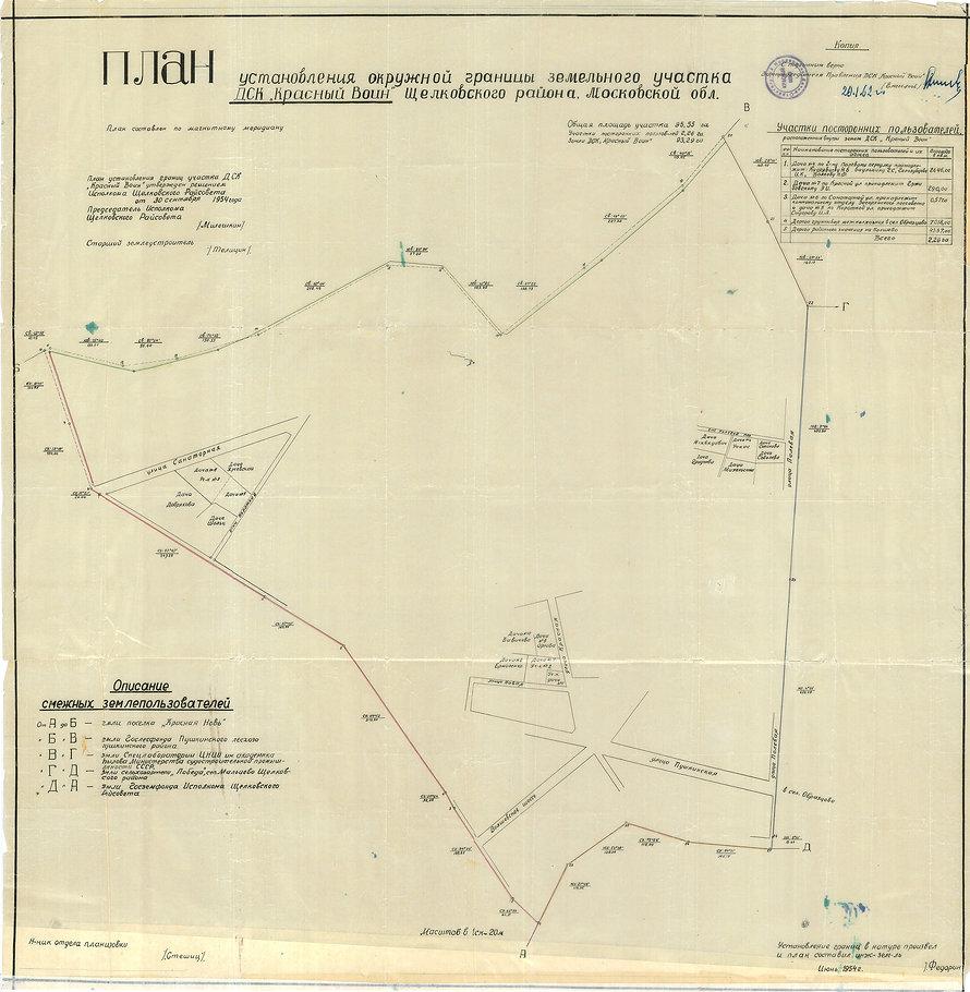 План границ ДСК Красный воин 1954г..jpg