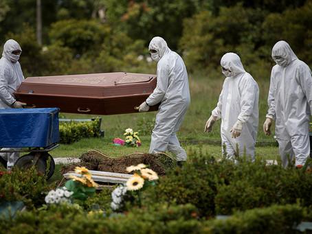 Brasil atinge 110 mil mortos, Bolsonaro deseja a pandemia