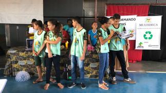 Präsentation der Jugendlichen über Umweltschutz