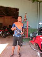 Kursabsolvent und Motorradmechaniker