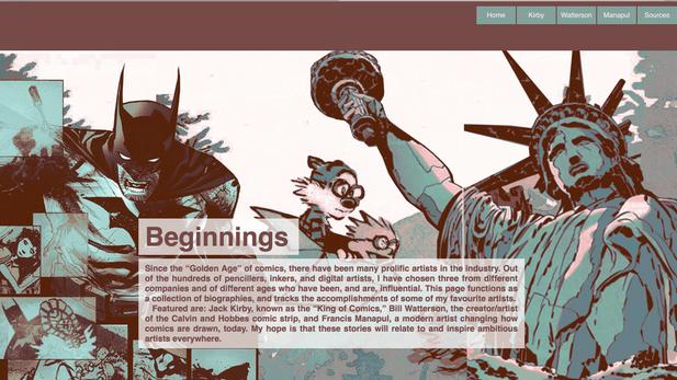 Comic Bios Website