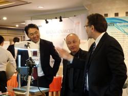 Peter with Dr Takis and Kobayshi San