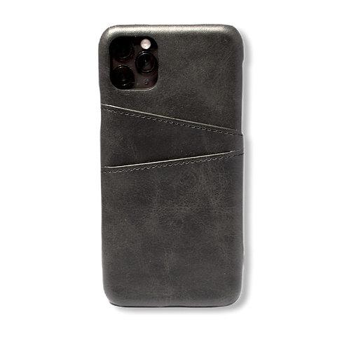 Case Para Iphone 12 Piel Negra
