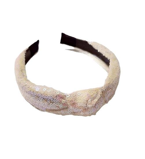 White Sequence Headband