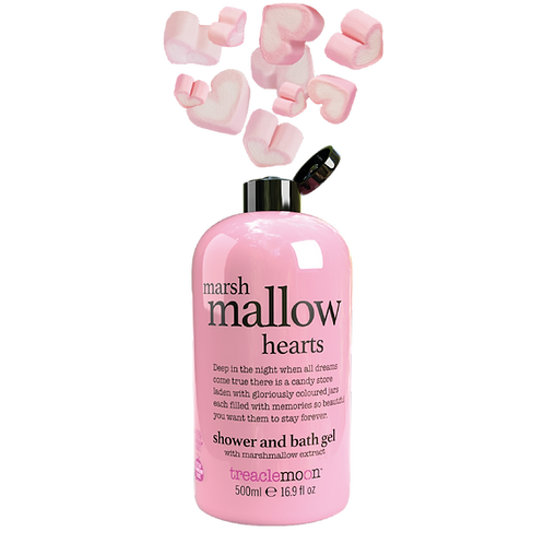 Marshmallow Hearts Shower & Bath Gel 500ml