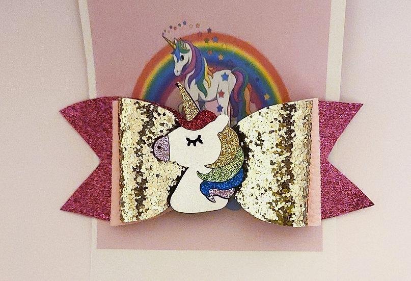 Unicorn Sparkles Bow