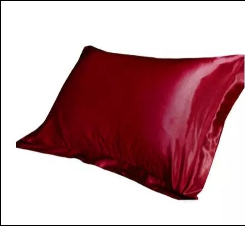 Red Wine Satin Pillowcase