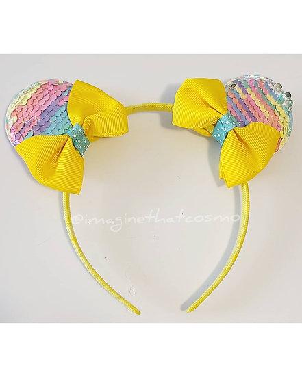 Mickey/Minnie Sequence Ears (yellow)