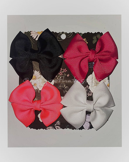 4pk Butterfly Hairbows