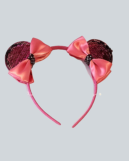 Mickey/Minnie Sequence Ears (pink)