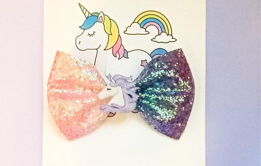 Two Toned Unicorn Bow