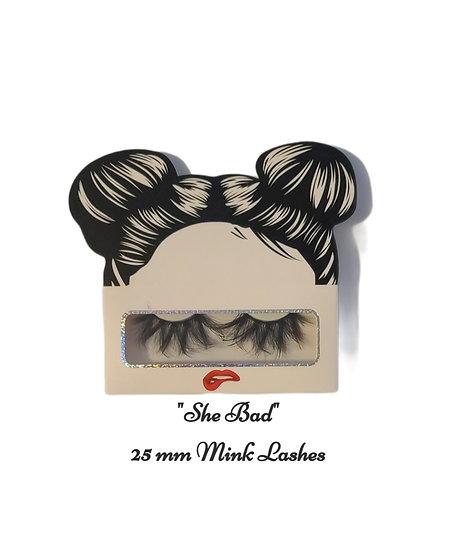"""She's Bad"" Mink Lashes"