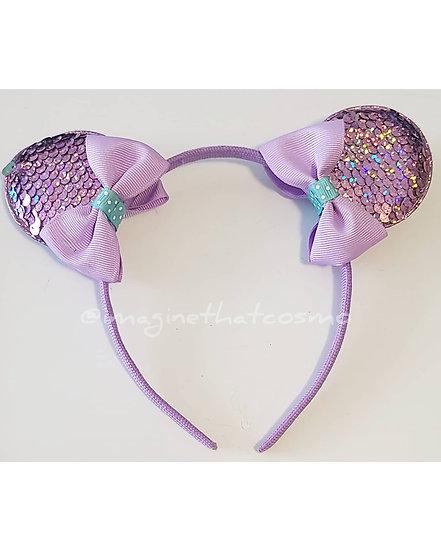 Mickey Mouse Sequence Headband (Purple)
