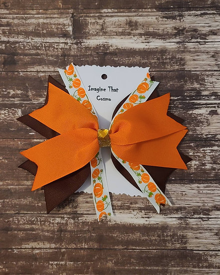 Pumpkin Flaire Style Bow